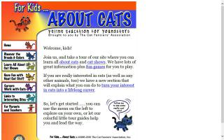 CFA: For Kids  - About Cats: Feline Education for Youngsters