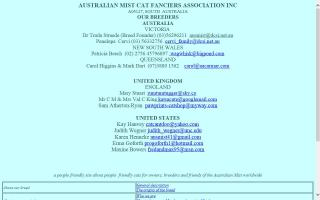 Australian Mist Cat Fanciers Association Inc - AMCFA