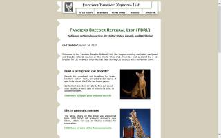 Fanciers Breeder Referral List - FBRL