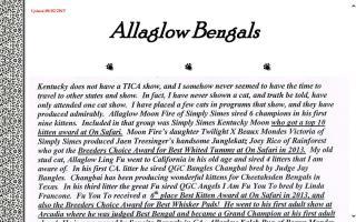 Allaglow Bengals