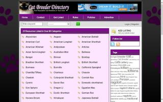 Cat Breeders Directory